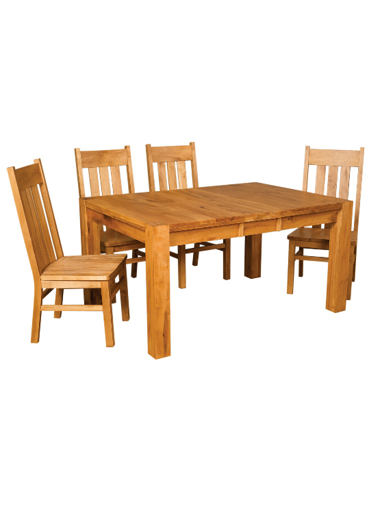 Heartwood Dining Table With Block Legs Amp Leaf Extensions