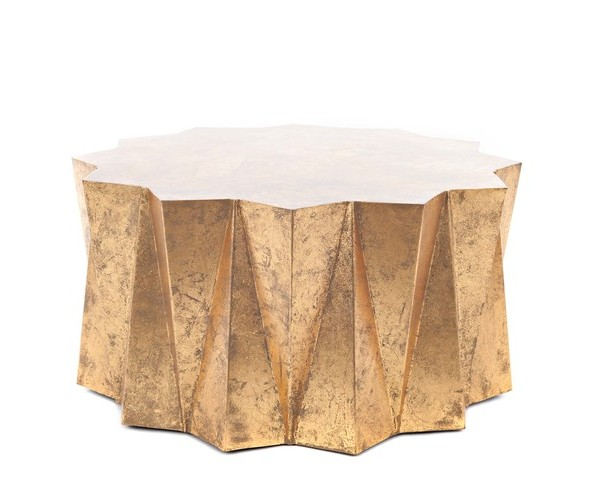 Hex+Coffee+Table+Gold