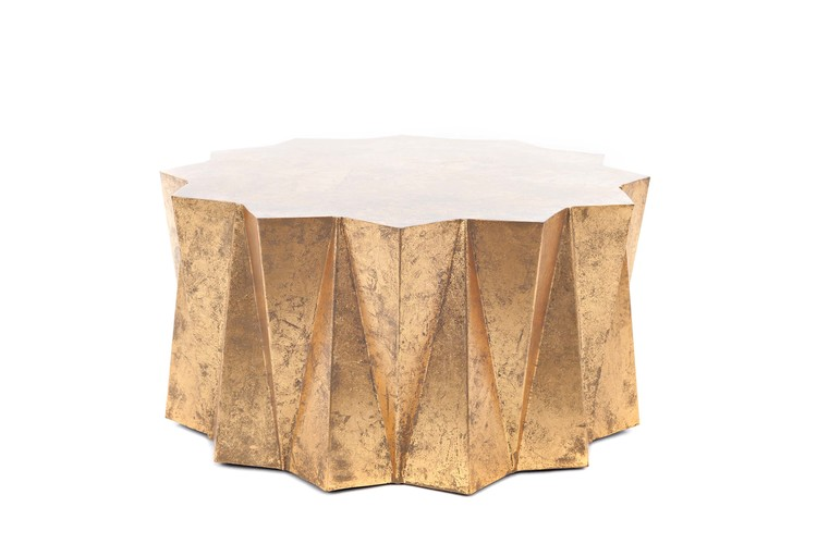HEX COFFEE TABLE GOLD The Spotted Frog - Hex coffee table