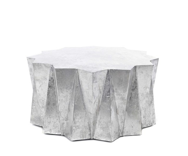 Hex+Coffee+Table+Silver